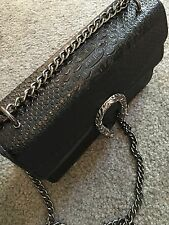 Women Cross Body Bag Snake Buckle Flap Chain Handbag New