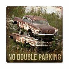 No Double Parking Oldtimer Junkyard USA US Car Retro Sign Blechschild Schild NEU