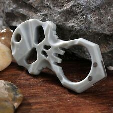 Popular Skull Shape Pendant Self Defense Keychain Necklace with Chain EDC Tool