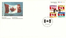 CANADA #1190a CANADIAN FLAG BOOKLET PANE FIRST DAY COVER
