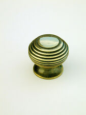 Small Antique Solid Brass Beehive Cabinet / Cupboard Door Knob / Handle