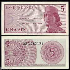 INDONESIA 5 Sen 1964 Pick 91  SC  / UNC