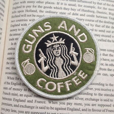 USA ARMY WAR AND COFFEE AIRSOFT PAINTBALL 3D MORALE BADGE HOOK LOOP PATCH
