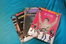 4 issues Sports Illustrated Muhammad Ali 1967 1976 1980 1988