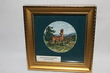 HAND PAINTED ENAMEL ON COPPER FRAMED MINIATURE BY JOHN AND JO WITHERS FRAME 4 X