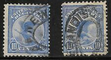 U.S. USED F1       Two Singles  as shown      (R6061)