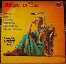 """FAUSTO DANIELI """"ADAGIO IN SAX"""" SEXY CHEEESECAKE COVER FRENCH LP"""