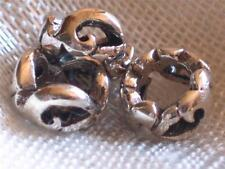 Bali Sterling silver beads~Open abstract heart rings~Large hole-metal-rondelle