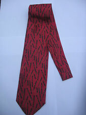 CONWAY STEWART FOUNTAIN PEN NEW RED NECKTIE ITALIAN SILK