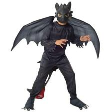 TOOTHLESS Halloween Costume How To Train Your Dragon Night Fury S 4/6 SMALL Kids