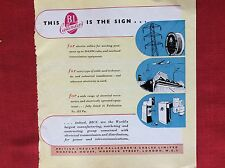 m2p ephemera 1950s advert british insulated cables limited callender's london