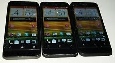 Lot of 3 HTC One V 4GB Black Virgin Mobile Android Smartphone Cracked Glass