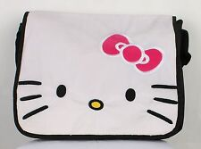 Hello Kitty Face Messenger Bag FULL SIZE LARGE MESSENGER SHOULDER BAG BOOKBAG