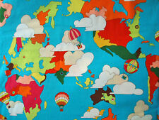 2009~ THE GOOD EARTH ~ alexander henry POP ART fabric retro 1960's world map
