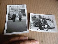Enfant Hiver 1939.Avril 1940 avant la Débacle Ancienne Renault et Peugeot