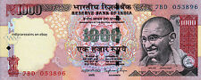 INDIA 1000 RS Raghuram Rajan 2014 Without Inset Paper Money Bank Note UNC NEW