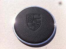 Porsche 911 912 Horn Button central,hupenknopf with leather,stainless Ring