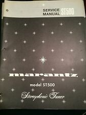 Original Marantz Model ST500 Stereophonic Tuner Service Manual