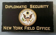 Diplomatic Security New York Field Office w State Dept DSS Emblem Marble Desk