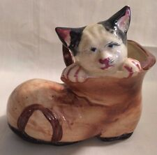 Vintage Figurine Cat in The Shoe Boot –Made in  Japan