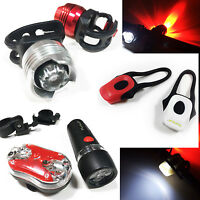 Quality LED Bright Bicycle Lights Push Bike Mountain Cycling Cycle Safety Hi Vis