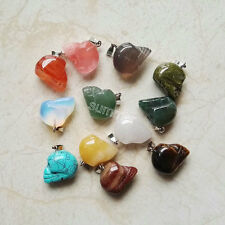 fashion natural stone mixed carved skull skeleton charms pendants for jewelry