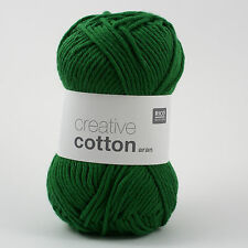 Rico Creative Cotton Aran - 100% Cotton Knitting & Crochet Yarn - Green 49