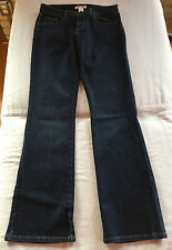 WHITE HOUSE BLACK MARKET Women's Dark Boot Cut Jeans w/ Rhinestones Size 8 NEW