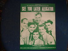BILL HALEY - See You Later Alligator Repro  Sheet Music