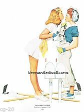 """Norman Rockwell print """"CONFRONTATION""""/""""THE GIRLS BACK HOME"""" 11x15"""""""