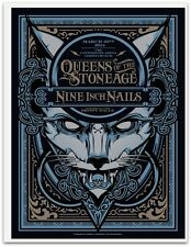 Queens of the Stone Age Nine Inch Nails Christchurch NZ 14  Poster Art Hydro 74