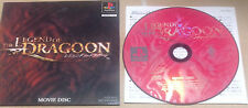 Legend of Dragoon Movie Disc Demo Promo Japan JAPANESE RARE PlayStation