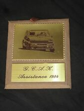 PLAQUE PLAQUETTE 1984 GROUPE COMPETITION ANTIBES KURNIS RALLYE RENAULT G.C.A.K