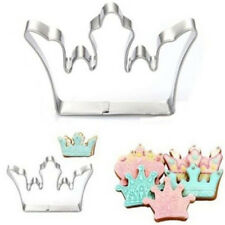 FD3030 Stainless Steel Crown Chocolate Cookie Cutter Fondant Cake DIY Mold Tool☆