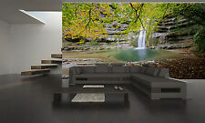 Forest Park Waterfalls  Wall Mural Wallpaper GIANT WALL DECOR PAPER POSTER