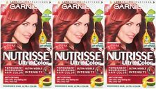 3 x Garnier Nutrisse Creme Cream Permanent Hair Dye 7.60 Ultra Red Ultra Colour