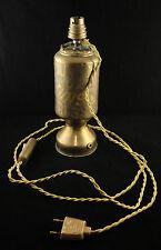 Pied de lampe Travail de poilu Souvenir de Prusse Munster Trench art WW1