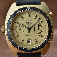 HEUER AUTAVIA 11063V 114.603 RARE GOLD FILLED CALIBER 12 42MM AUTOMATIC CHRONO