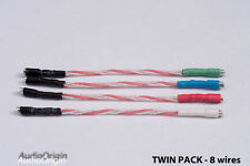2 x PURO SOFT ricotto argento dorata HEADSHELL, CARTUCCIA wire, lead, PHONO