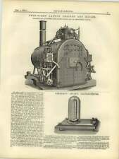 1877 Faraday Astatic Galvanometer, Twin Screw Launch Engines Boiler Alexander Wi