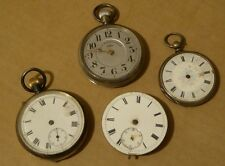 Pocket watch bundle for repair, 2 silver, Siro and a movement, all as shown.