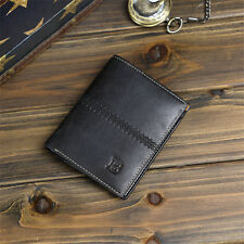Fashion Mens Leather Bifold ID Card Holder Wallet Billfold Handbag Slim Clutch