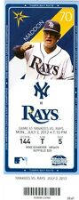 2012 Rays vs Yankees Ticket: B.J. Upton, Carlos Pena homer