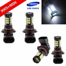 Combo Set 9006 + 9005 Samsung LED 57 SMD White Headlight Lamp Bulb Hi/Lo Beam