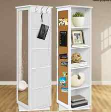 5 Cube Rotating Swivel Storage Cabinet Shelves Mirror Bookcase Display Cupboard