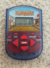 MB Hangman Electronic Handheld Game Clear Blue Case