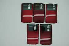 LOT of 5 BLACKBERRY CURVE 8300 8320 RED Battery door cover REF