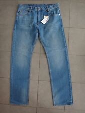 Love Moschino CZ1241120 Men Blue Denim Straight Leg Jeans Trousers sz. 36 NWT