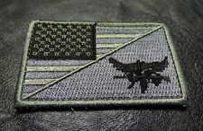 USA Flag Tactical SWAT Eagle Split 3 x 2 inch velcro tactical swat ACU PATCH