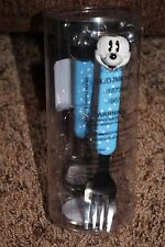 NEW 2-pc DISNEY blue MICKEY MOUSE polka dots FORK & SPOON SET bpa free **
